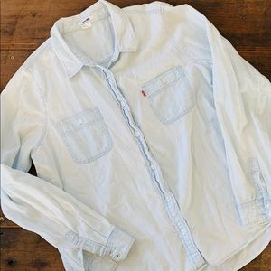 Levi's Button Up Denim Shirt